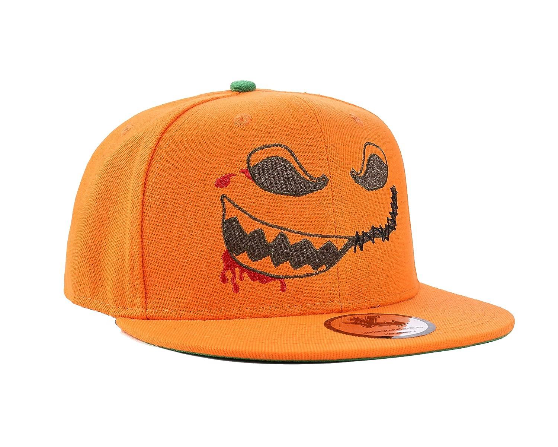 WuKe Skull Embroidery Snapback Adjustable Baseball Hat Cap