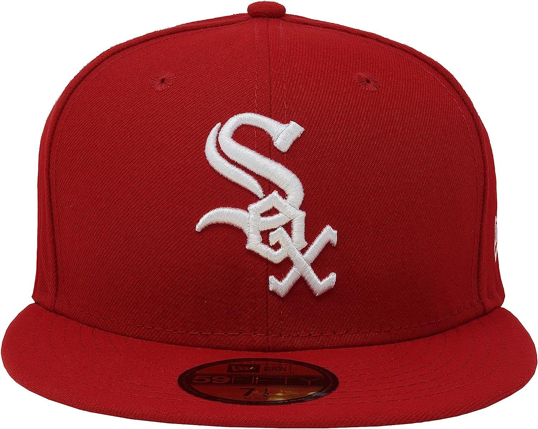 New Era White Sox mlbbasic Red//White Fitted Mens Hat 11591166 7