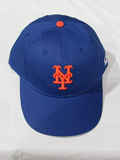 lowest price 148f2 f91a6 Image Unavailable. Image not available for. Color  2013 Adult FLAT BRIM New  York Mets Home Blue Hat Cap MLB Adjustable