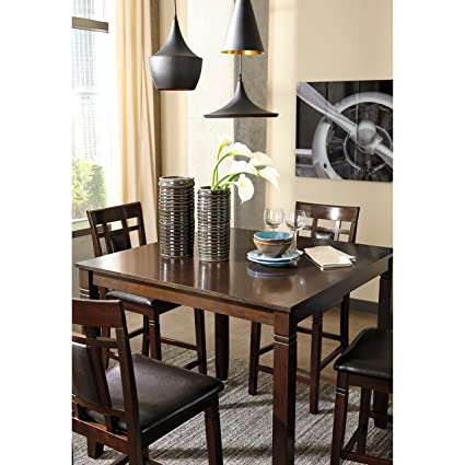 Delightful Ashley Furniture Signature Design   Bennox Counter Height Dining Room Table  And Bar Stools (Set