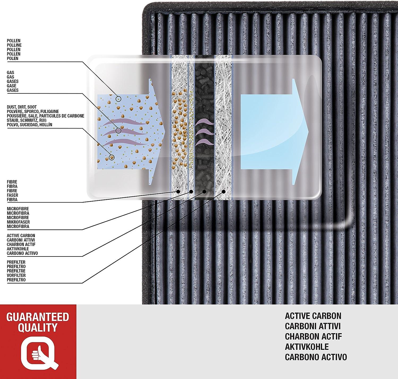 1 Pi/èce air de lhabitacle avec charbon activ/é Open Parts CAF2118.11 Filtre
