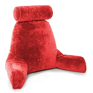 Husband Pillow - Red, Big Reading & Bed Rest Pillow