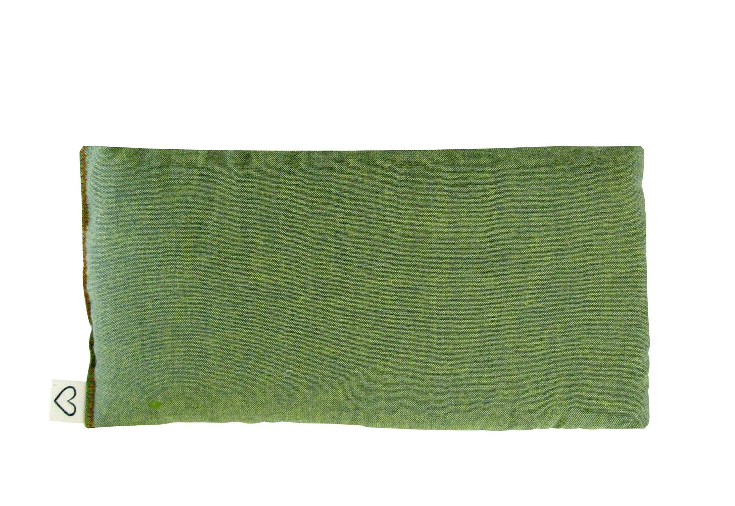 Pack (4) Unscented Organic Flax Seed Eye Pillows - 4 x 8.5 - Soft & Soothing Cotton - soothing relaxing - green by Peacegoods