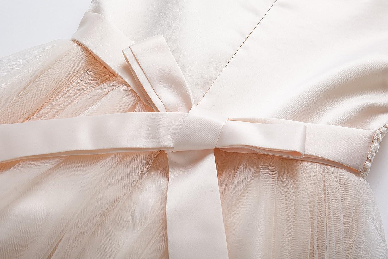 CIELARKO Robe Fille Demoiselle d/'Honneur de Soir/ée sans Manches /Él/égant Robes avec Perles