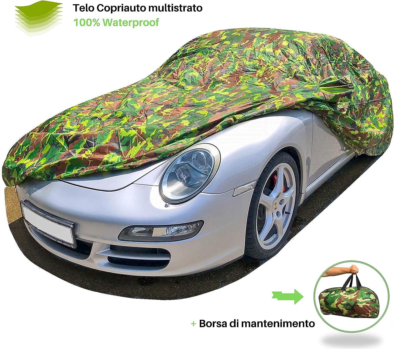 NOVSIGHT Telo Copriauto Copertura per Auto Universale 420D Oxford Nero Copri Traspirante Anti UV Taglia M