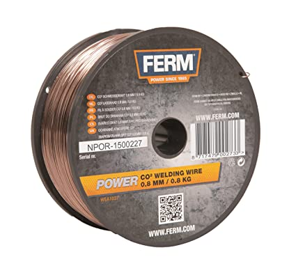 Ferm WEA1037 - Hilo de soldadura CO2 0,8mm (0,8kg)