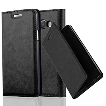 Cadorabo Funda Libro para Samsung Galaxy A3 2015 en Negro Antracita – Cubierta Proteccíon con Cierre Magnético, Tarjetero y Función de Suporte – Etui ...