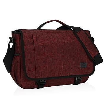 72d90beef94f Amazon.com  Hynes Eagle Laptop Messenger Bag 15.6 inch Commute Shoulder Bag  for Men   Women Red  Hynes Eagle