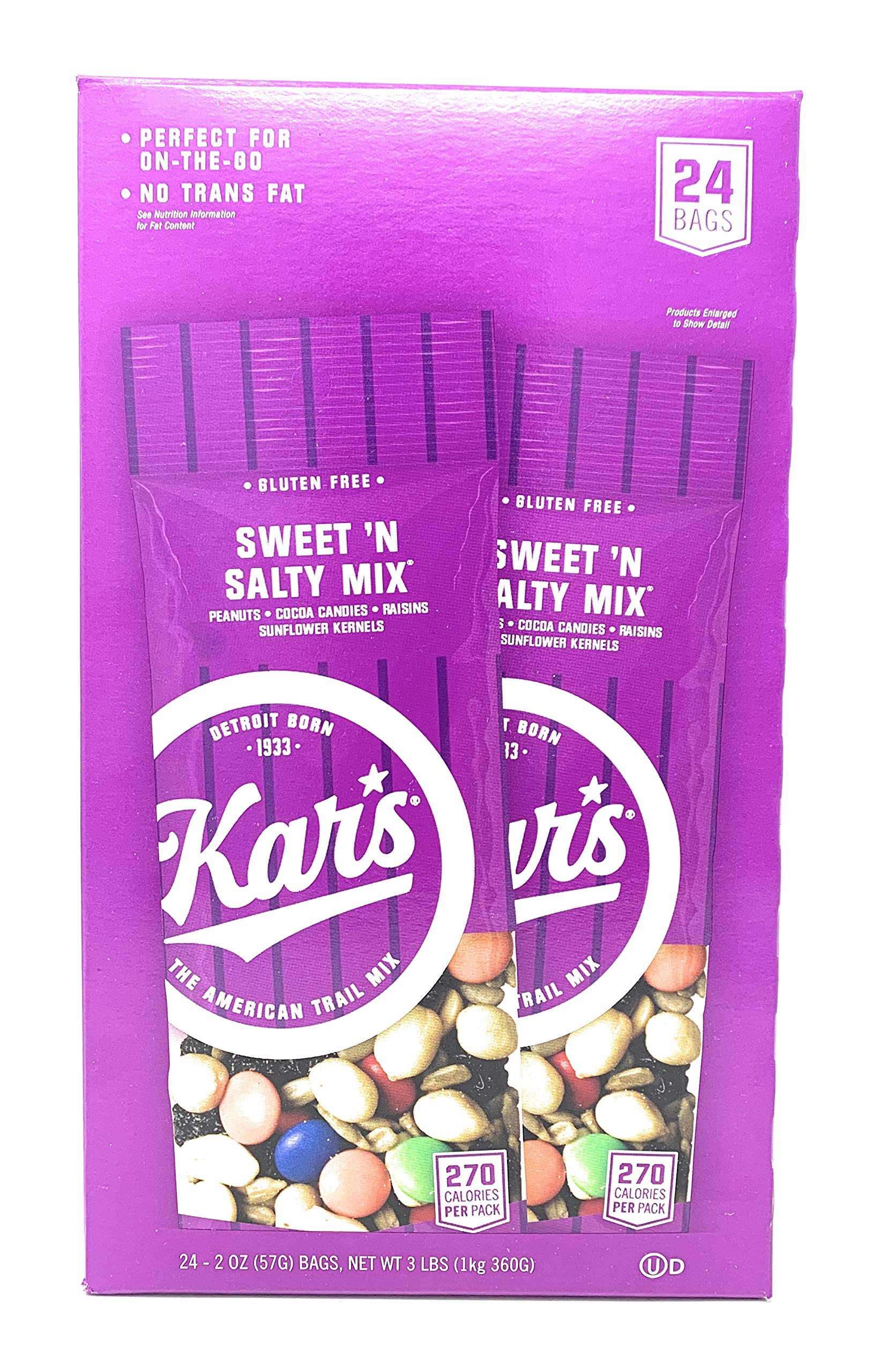 Kar's Sweet 'N Salty Mix, 2 Oz, Box of 24 Bags by Kars Products