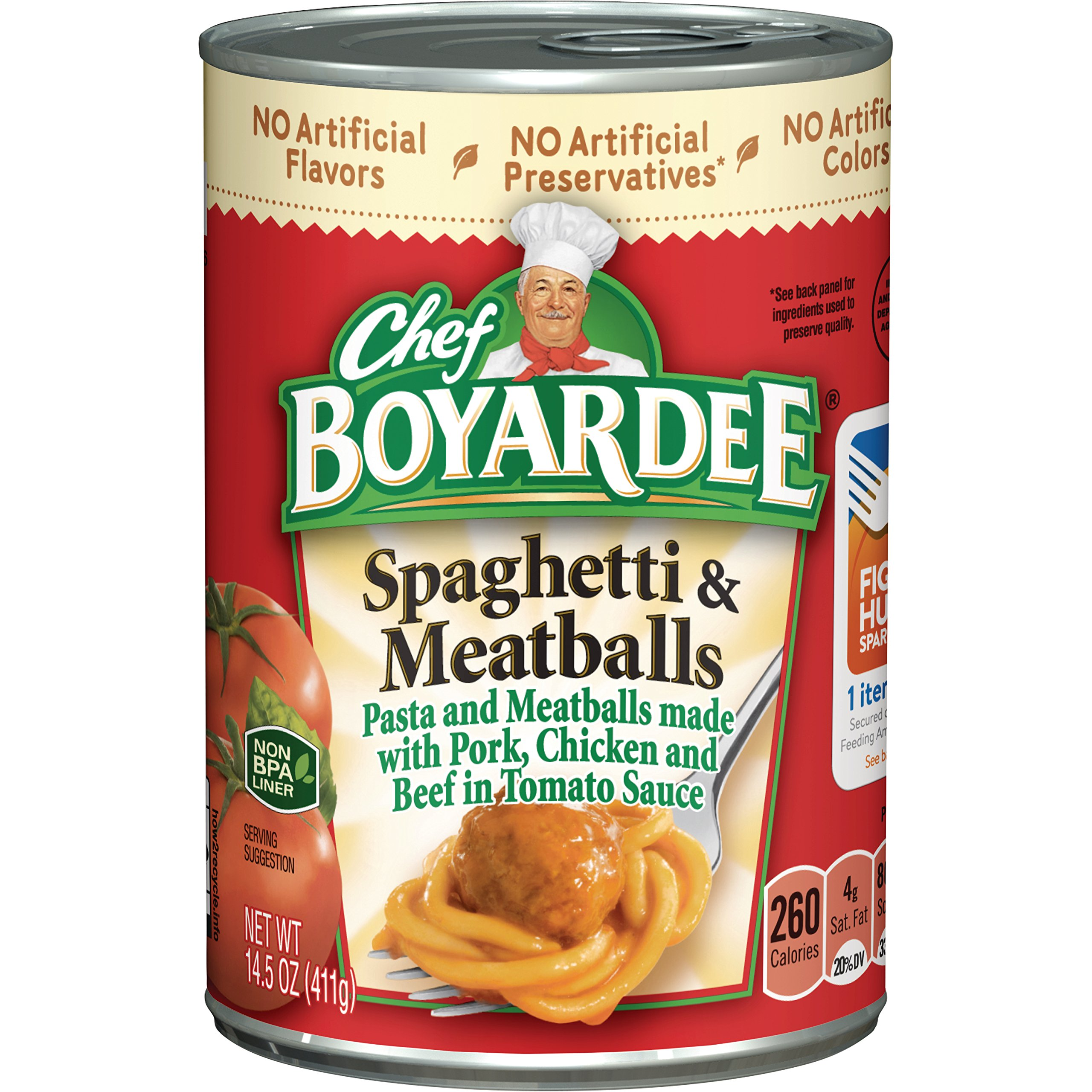 Chef Boyardee Spaghetti & Meatballs, 14.5 Oz. (Pack of 24)