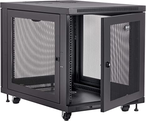 Amazon Com Tripp Lite 12u Rack Enclosure Server Cabinet Mid Depth 32 5 Deep 5 Year Warranty Sr12ub Home Audio Theater