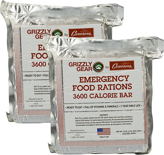 The Best Emergency Food Bars Grizzly
