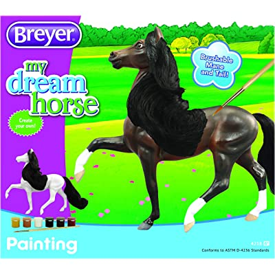 "Breyer Horses My Dream Horse Painting Craft Kit | Brushable Mane and Tail | 9"" x 6"": Toys & Games"