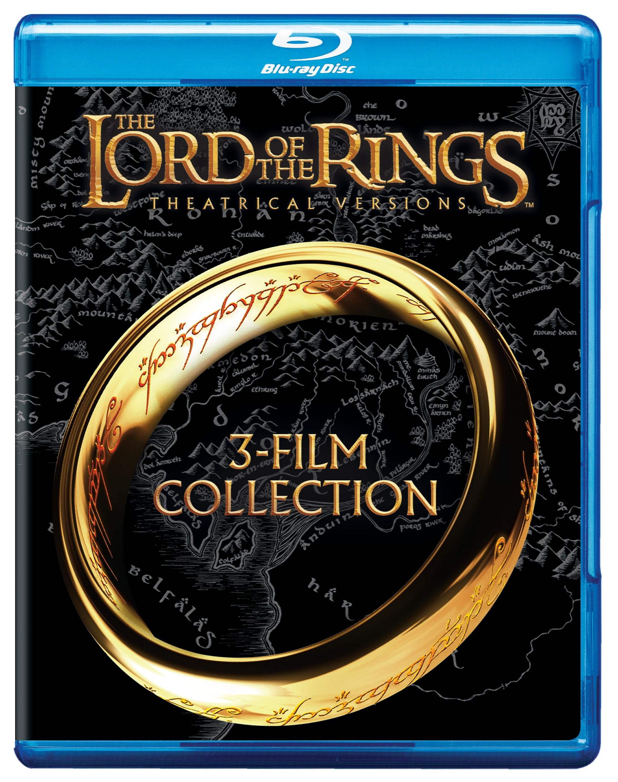 Blu-ray : The Lord of the Rings: Theatrical Versions: 3-Film Collection (3 Pack, 3 Disc)