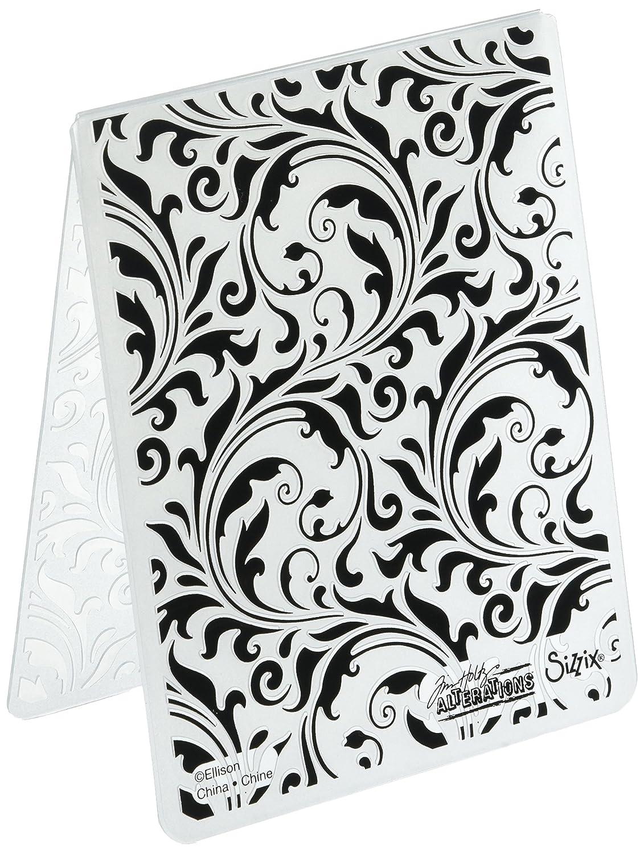 Sizzix 661822 Flourish Texture Fades Embossing Folder Ellison