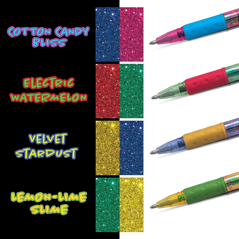 Assorted Ink Bold Line 4-PK 1.0mm Xc//BD//CP//DG Pentel Arts Krazy Pop Iridescent Gel Pen, K91PABP4M3