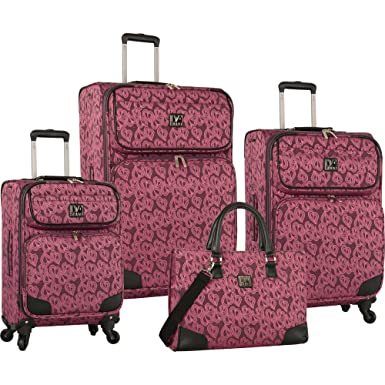 Amazon.com   Diane Von Furstenberg Hearts Jacquard 4 Piece Luggage ...