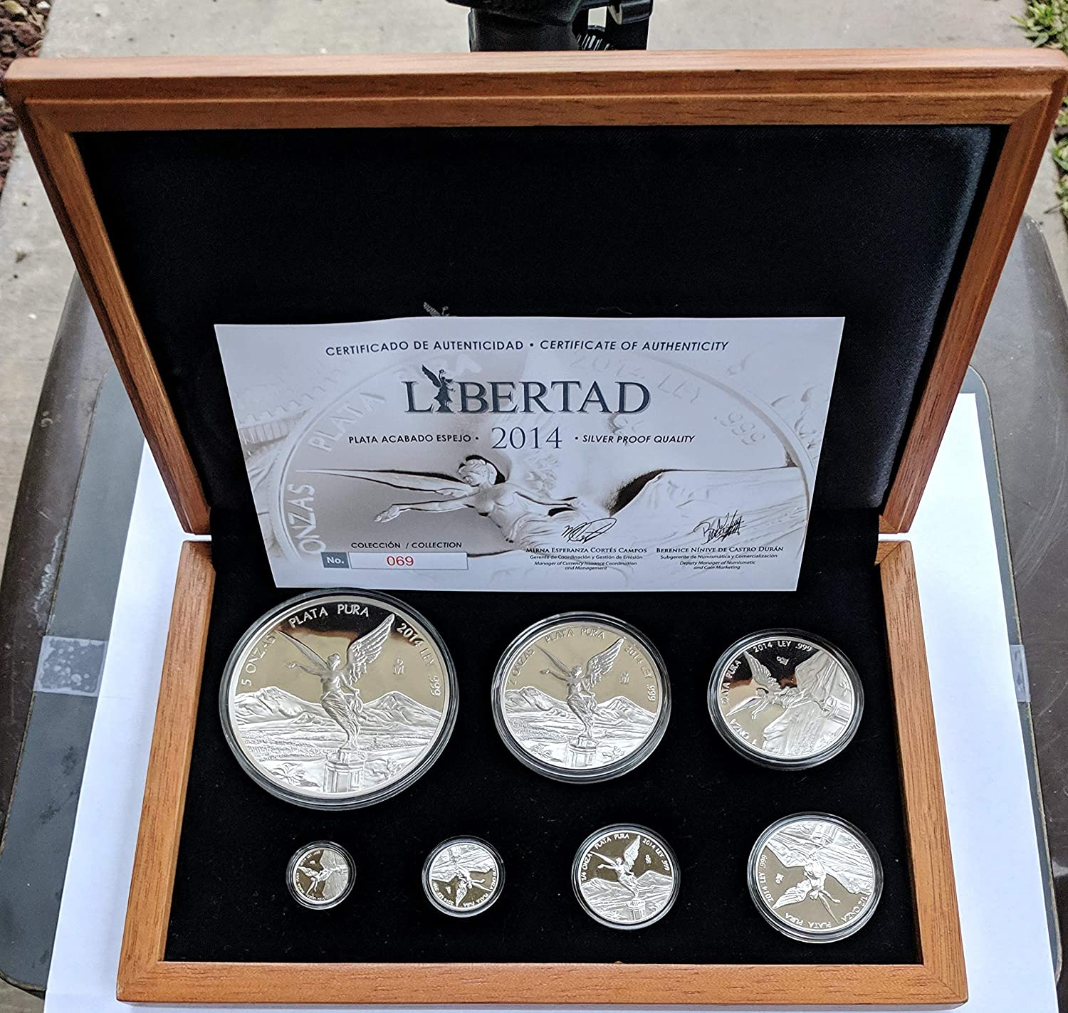 COA ONLY 2014 Silver Proof Set