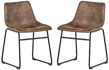 Rivet Mid Century 2 Pack Microfiber Chairs, 30.5u0026quot ...