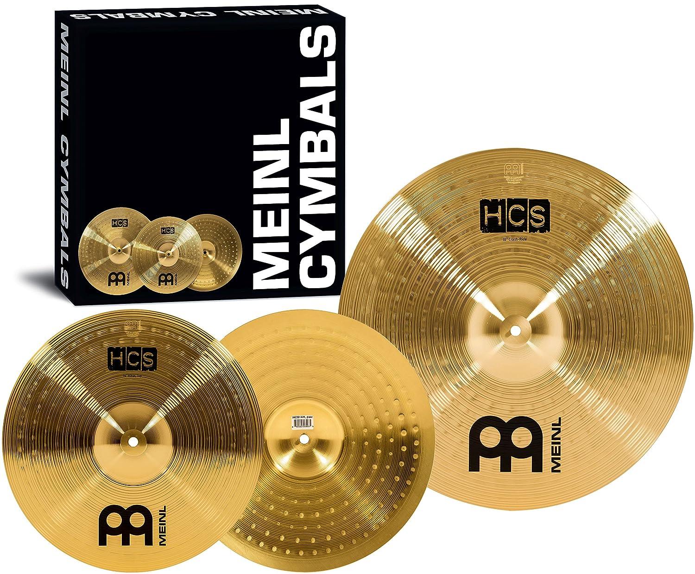 Meinl Cymbals HCS1418 HCS Serie Beckenset mit 35,56 cm (14 Zoll) Hihat, 46,72 cm (18 Zoll) Crash-Ride