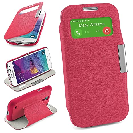 Bolso OneFlow para Funda Samsung Galaxy S4 Mini Cubierta con Ventana | Estuche Flip Case Funda móvil Plegable | Bolso móvil Funda Protectora ...