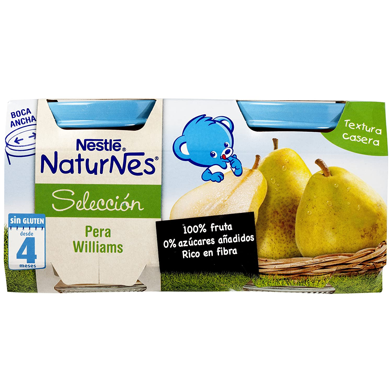 Nestlé Naturnes - Alimento Infantil Pera Williams - Pack de 5 x (2x200 g) - Total: 10 Tarritos de 200 g: Amazon.es: Alimentación y bebidas