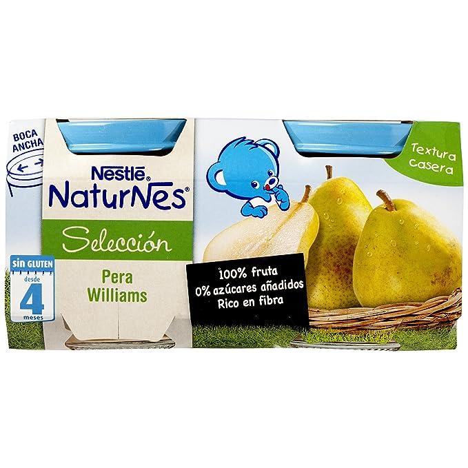 Nestlé Naturnes - Alimento Infantil Pera Williams - Pack de 5 x (2x200 g) - Total: 10 Tarritos de 200 g