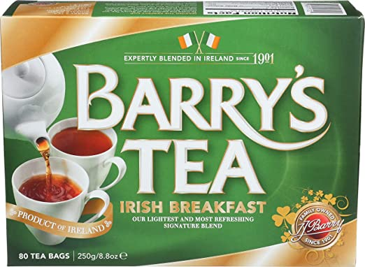 Barry's Tea, Irish Breakfast, 80-Count (Pack of 6