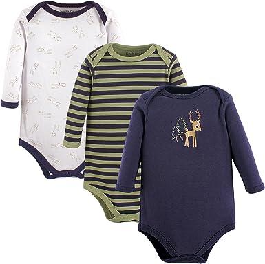 Luvable Friends Unisex Baby Cotton Long-Sleeve Bodysuits