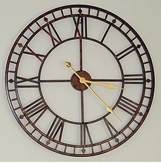 Millhouse Oversized Metal Skeleton Wall Clock Amazoncouk