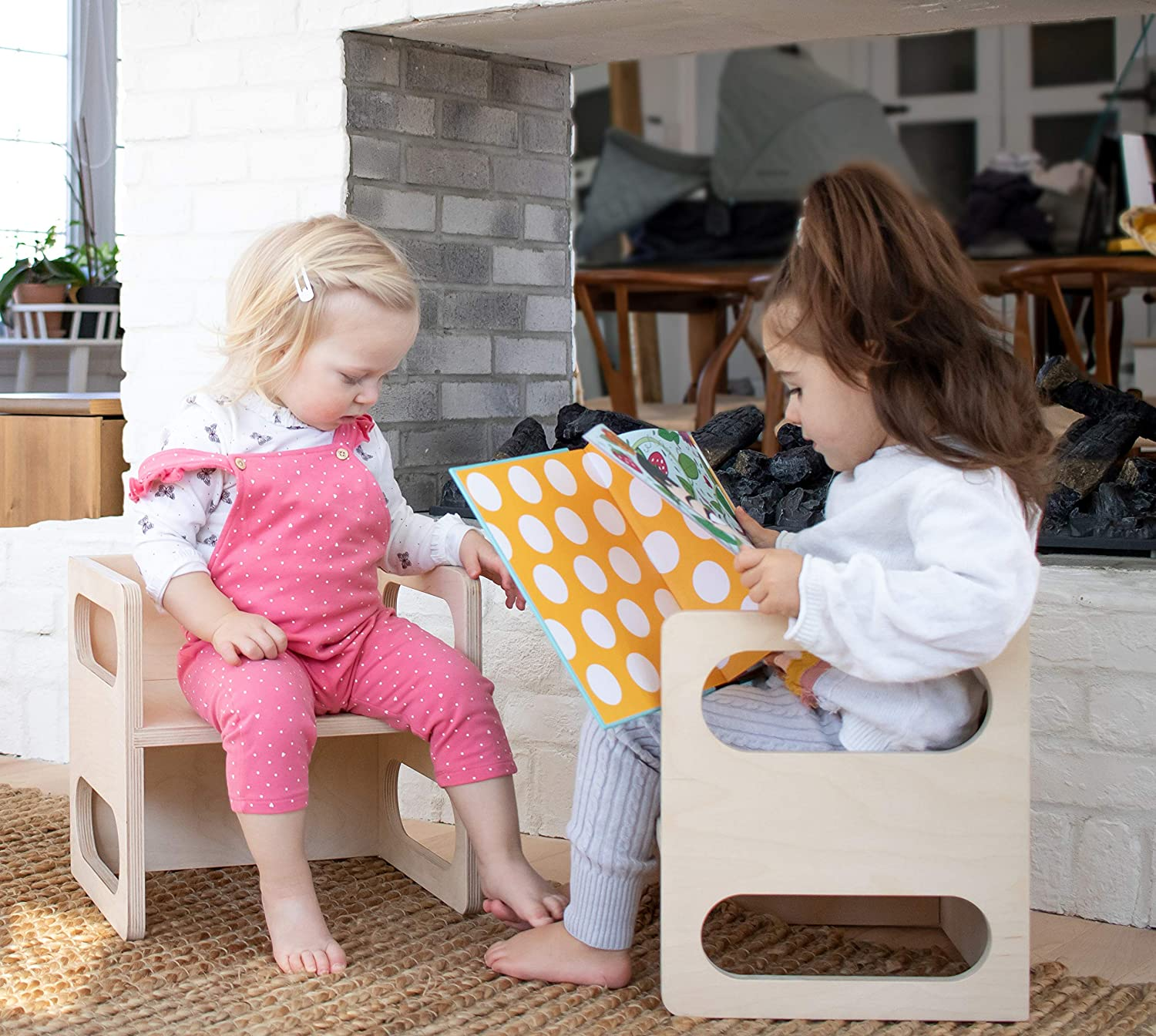 Kids Furniture Montessori Cube Chair Kids Chair Scandinavian Style Cube Chair Montessori Cube Montessori Furniture Cube Table Kimboo Montessori Cube Set Of 2 Made In Canada Original Pure Kids Table Chairs