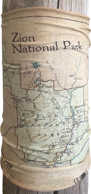 National Park \'Map\' Series Bandana – Bandana als Taschentuch ...