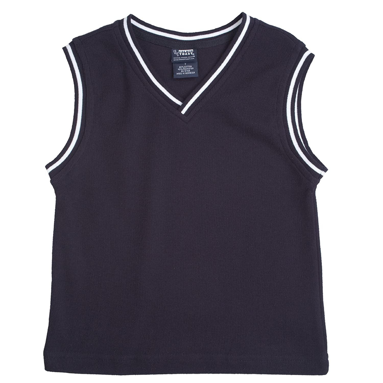 French Toast School Uniform Boys Sweater Vest with White Stripe