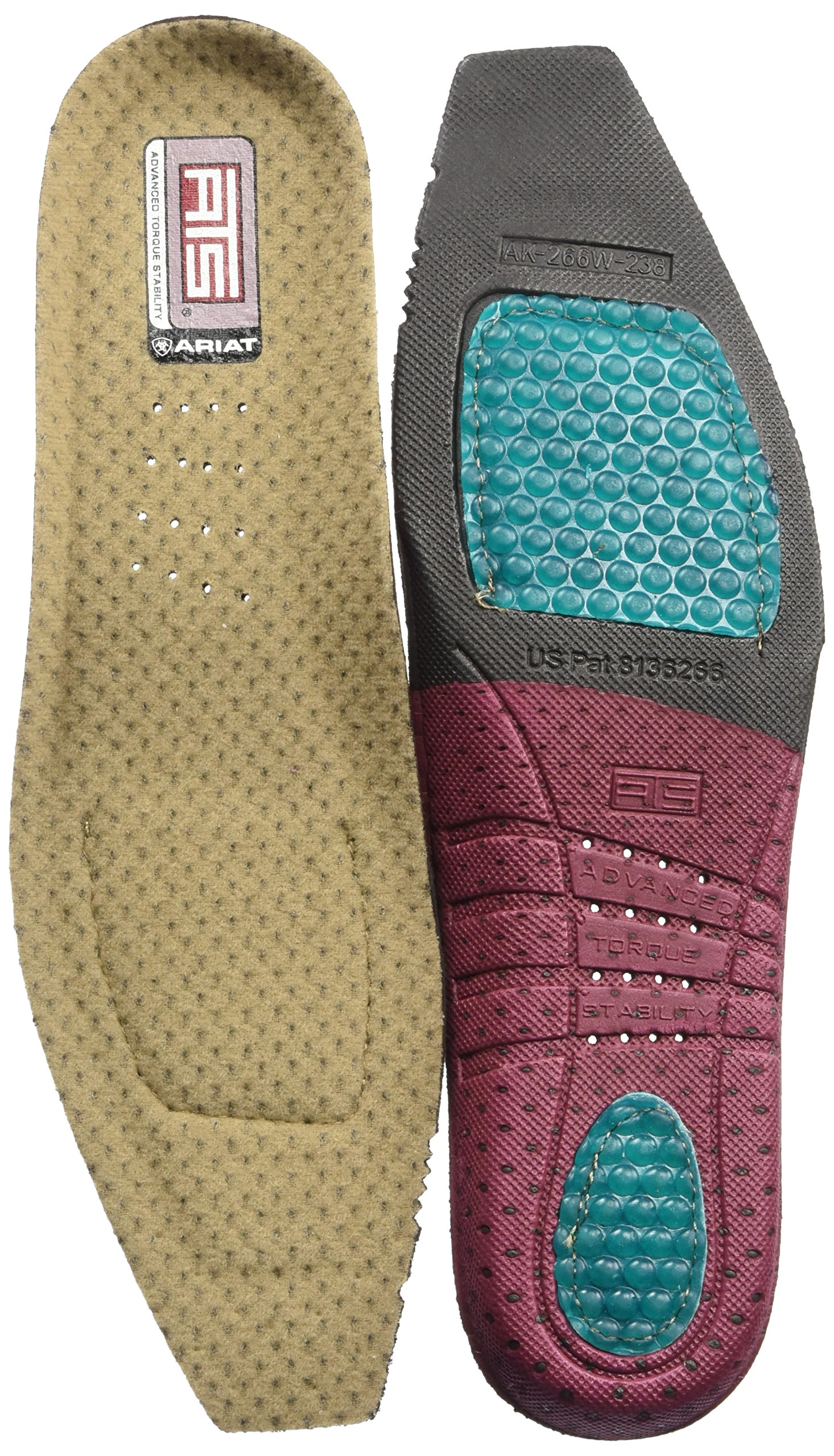 Ariat Women's Ats Square Toe Footbeds, multi, 8