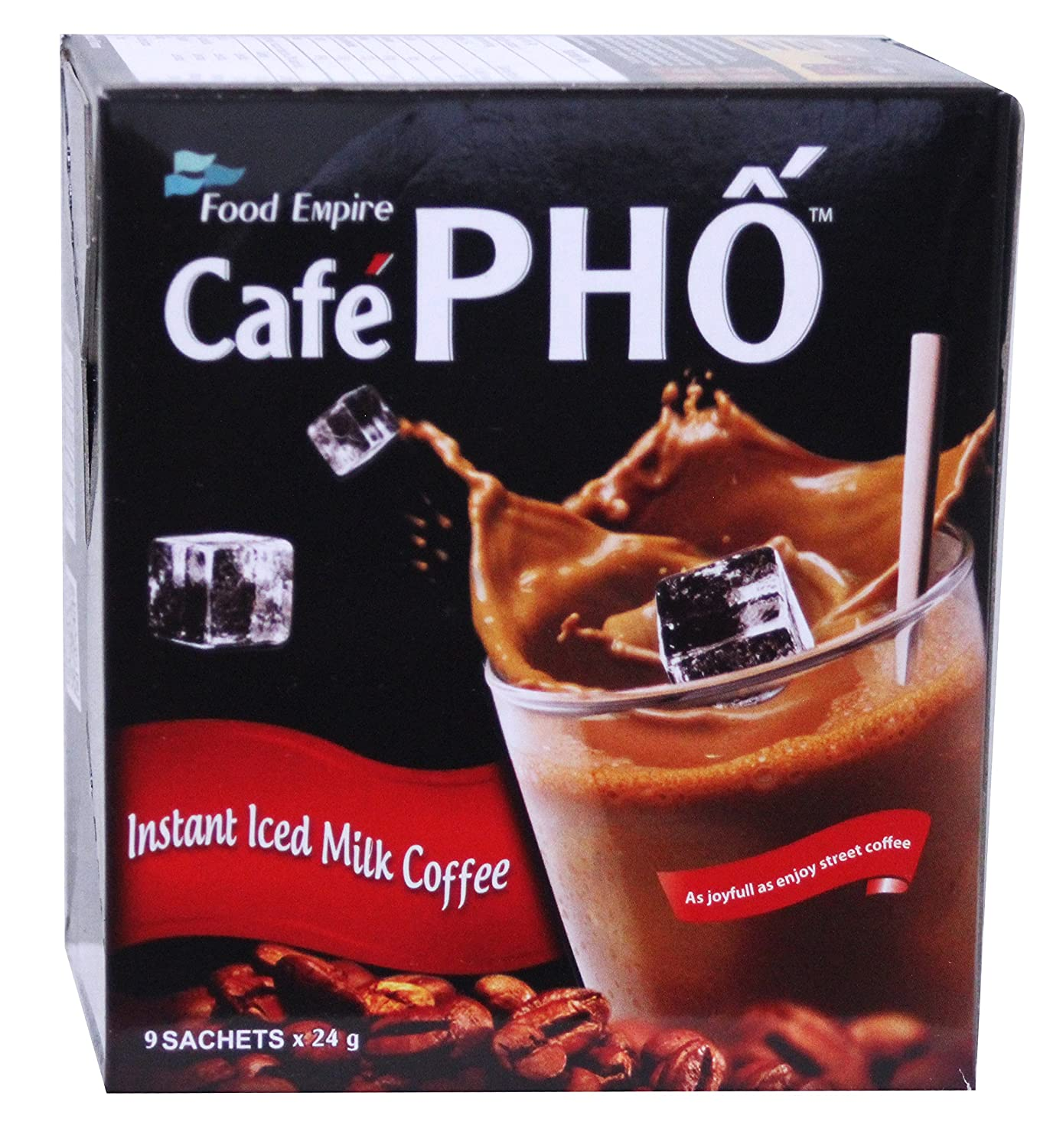 即溶越南牛奶冰咖啡 Cafe Pho Viet Milky Iced coffee instant coffee & Creamer drink mix - 9 Sachets / 7.62 oz (3 Packs)