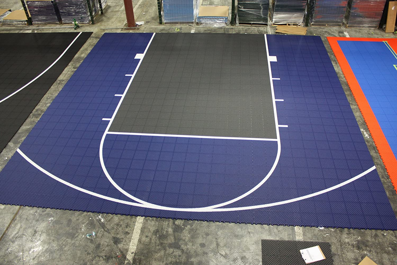 amazon com versacourt duraplay half court basketball kit red