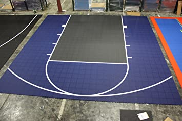 Versacourt DuraPlay, kit de media cancha de baloncesto - 1H - Red ...
