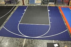 Versacourt DuraPlay Half Court Basketball Kit Red/Black