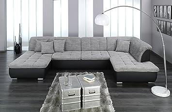 Arbd Wohnlandschaft Farus Couchgarnitur Xxl Sofa U Form Schwarz