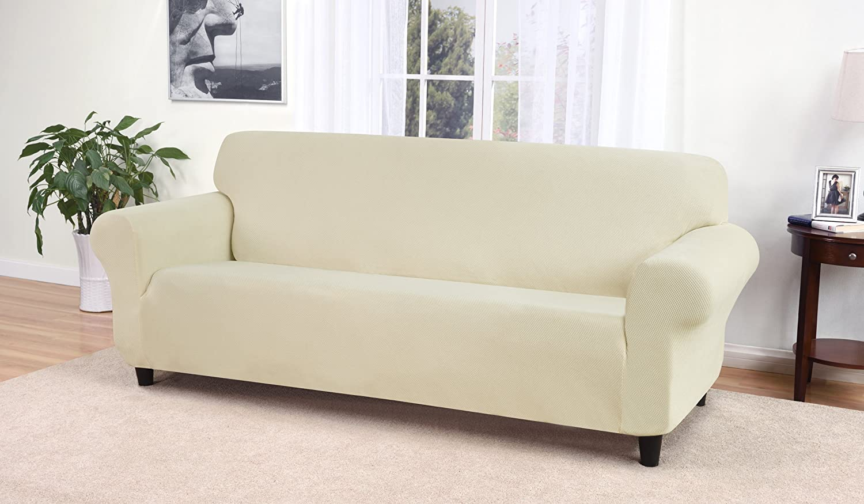 Cream Madison CR Kathy Ireland Day Break Sofa Slipcover, Cream