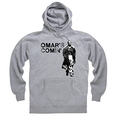 Official The Wire Hoodie - Omar\'s Comin\', Male: Amazon.co.uk: Clothing