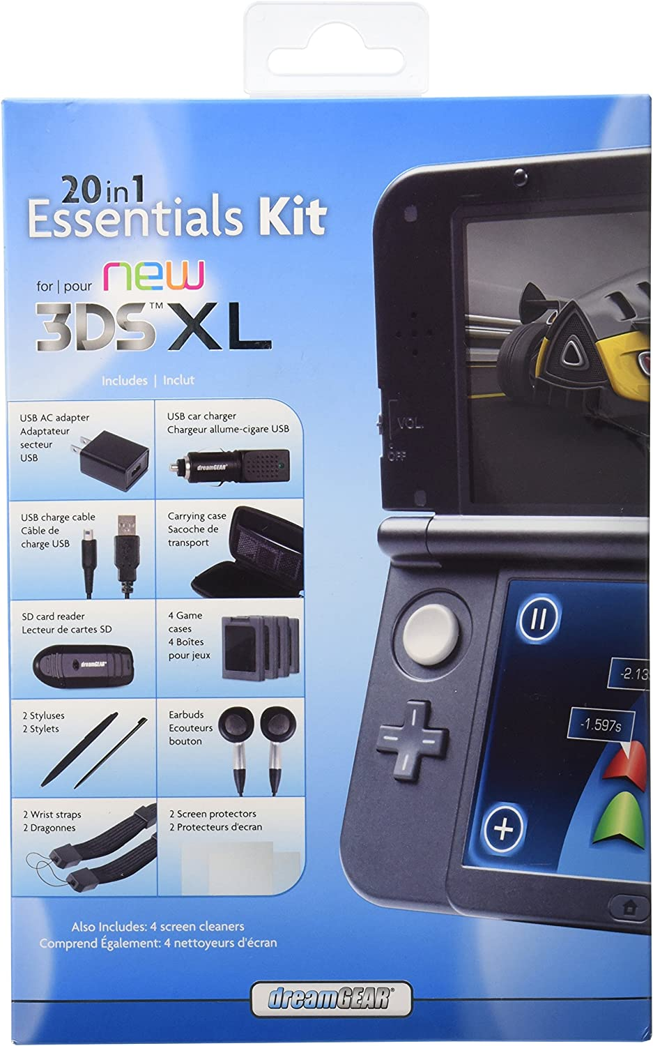 Amazon.com: dreamGEAR – 20 in 1 Essentials Kit for the New 3DSXL – Includes Both A/C Charger and Car Charger, Case and Others: nintendo 3ds: Video Games