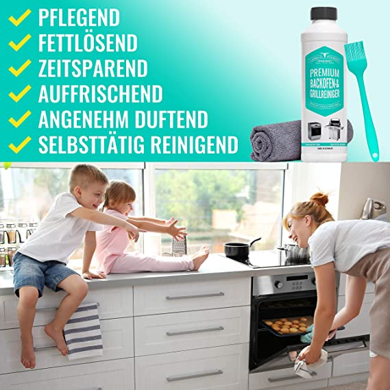 Limpiador especial para horno, para barbacoa, incluye pincel ...