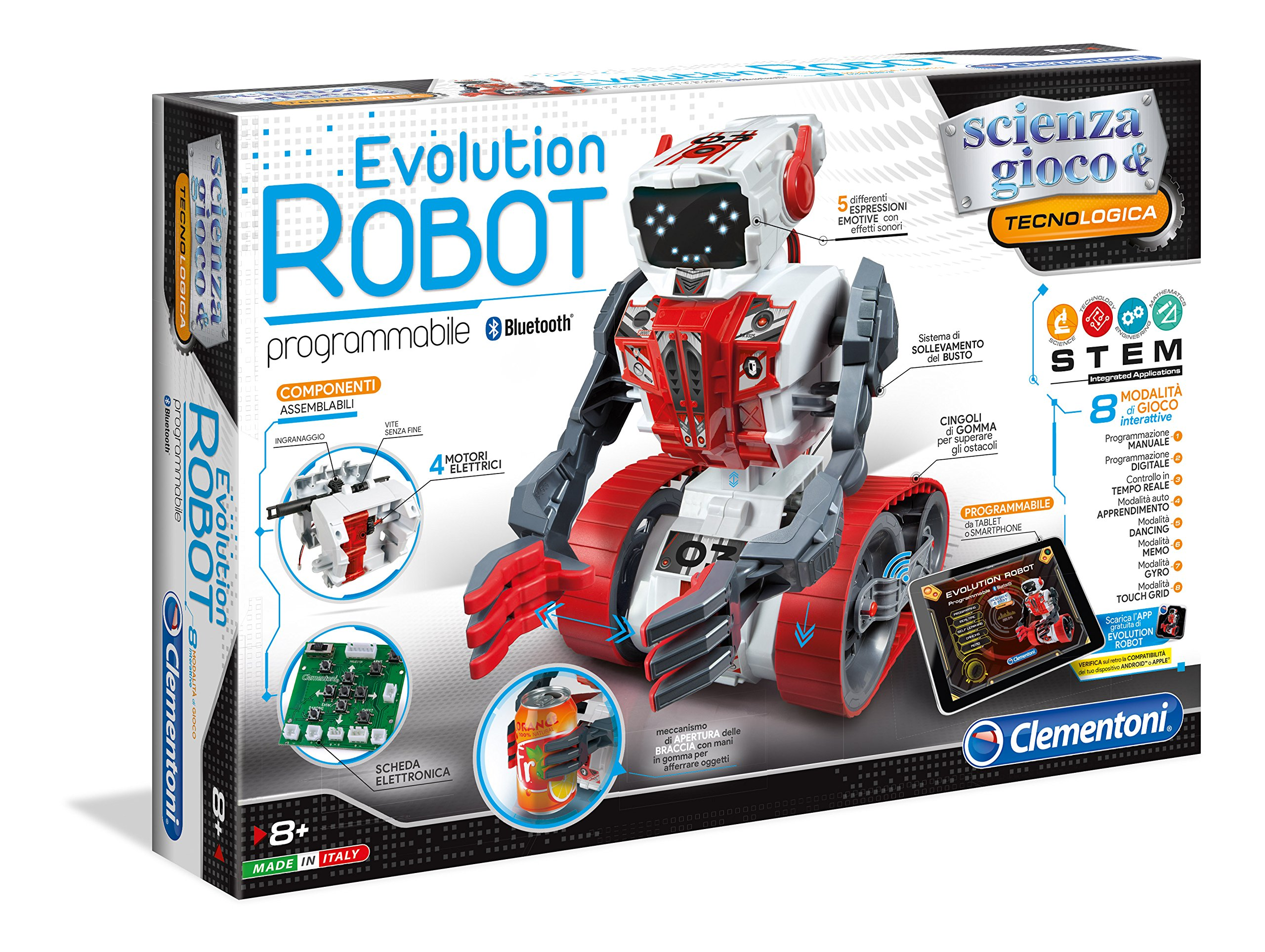 Clementoni Evolution Robot Robot-Remote Control Toys (530mm, 90mm, 360mm, 2.41kg, Box)