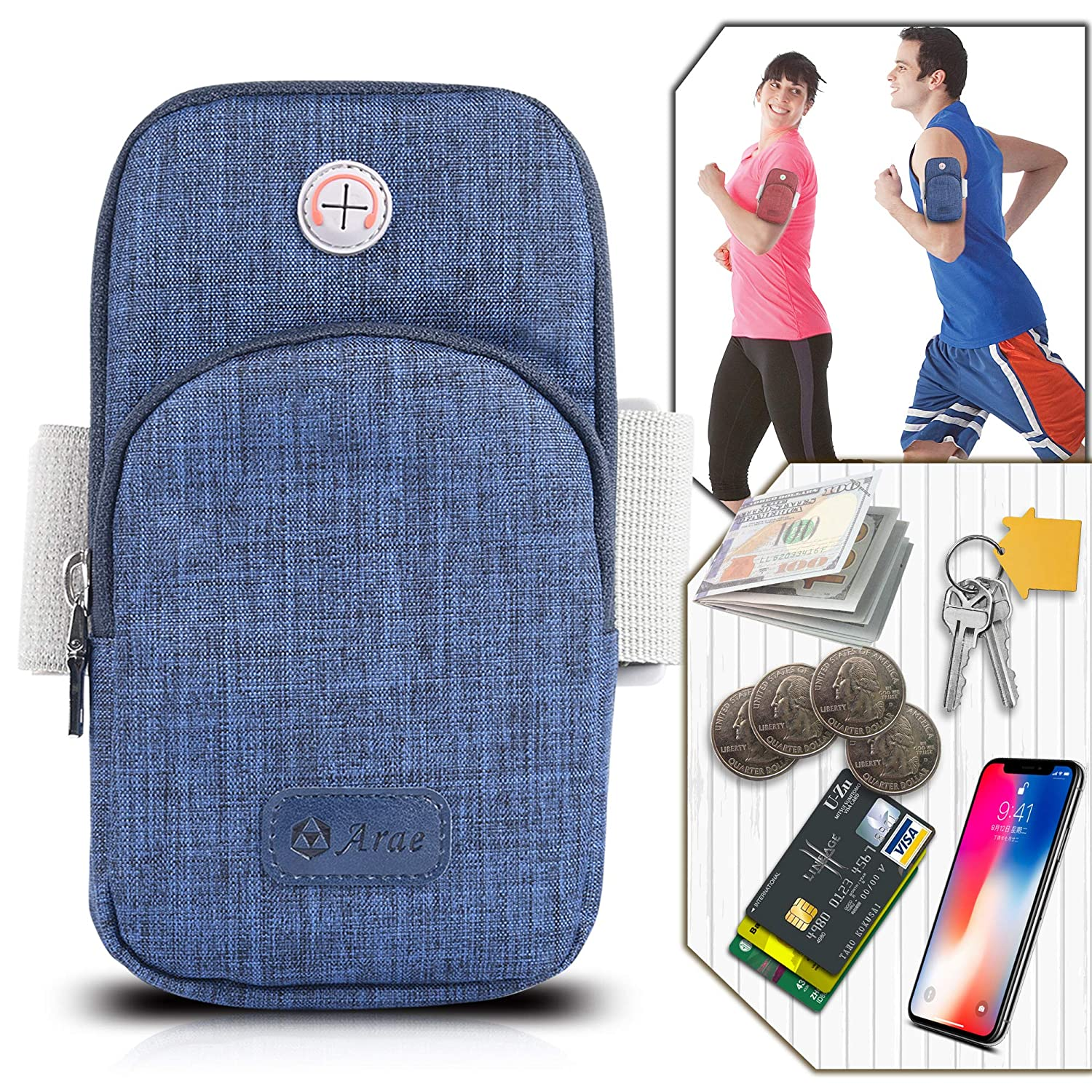 With Earphone Hole Sport Jogging Cycling Running Adjustable Cover Wallet Breathable Running Gym Arm Bag