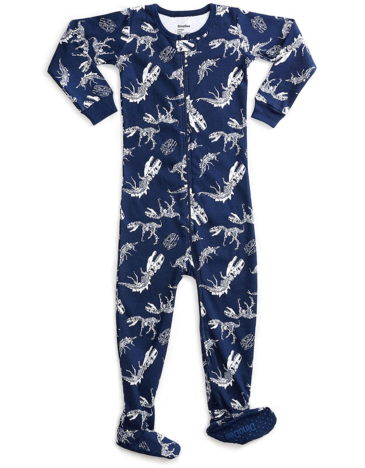 83158e91f7f6 DinoDee Baby Boys Girls Footed Pajamas Sleeper 100% Cotton Kids Pjs ...
