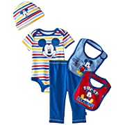 Disney Baby Boys' Mickey Mouse 5 Piece Set Stripes, Blue, (0-6 Months)