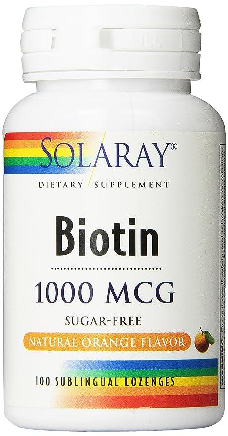 biotin cap 1000mg solaray 100 capsulas