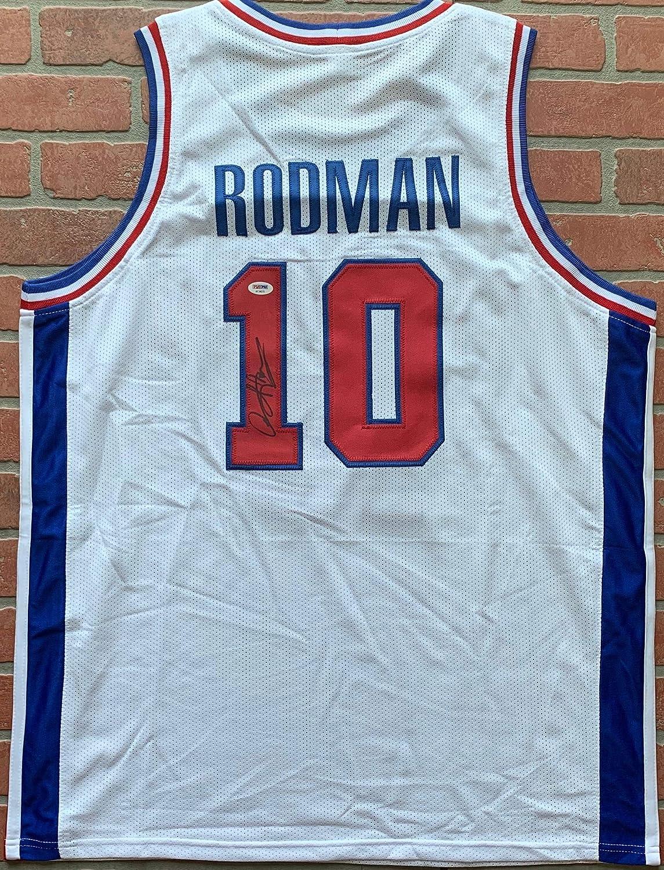promo code 11c1a 77448 Dennis Rodman autographed signed jersey NBA Detroit Pistons ...