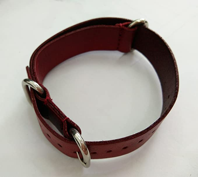 20mm Wine Red High-End Luxury Handmade Vintage Oil Tanned Leather Watch Band Strap Replacement for Men | Amazon.com